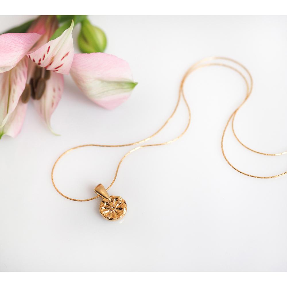 Pozłacany naszyjnik minimalistyczny GOLD BLUSH