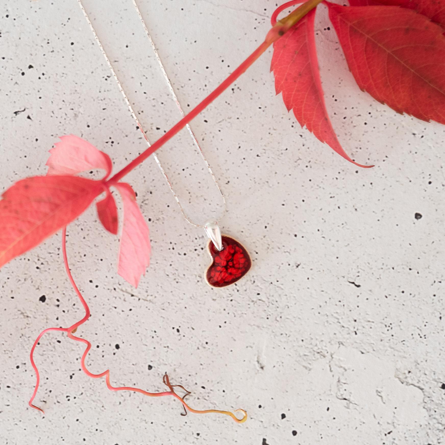 Klasyczny naszyjnik serce LOVE
