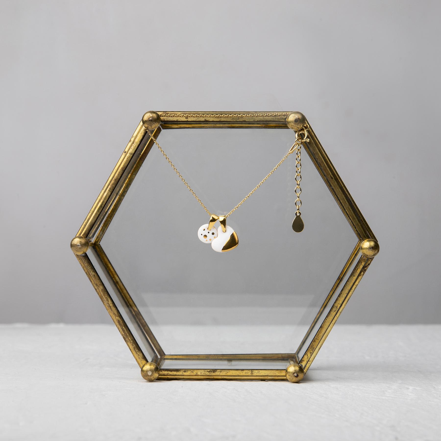 złota bransoletka z serduszkiem LOVE the DOT