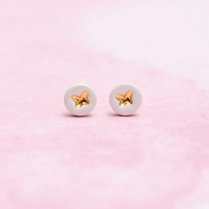 Kolczyki motylki złote – Little Joy