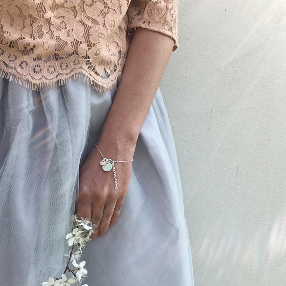 srebrna bransoletka ceramiczna / naszyjnik ceramiczny LOVEly Mandala